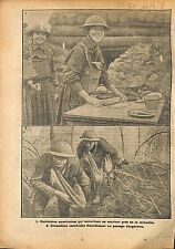 Cuisinières Cookers Grenadiers US Army Bataille de la  WWI 1918 ILLUSTRATION