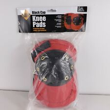 Western Safety Black Cap Knee Pads - Red - One Size Fits All -