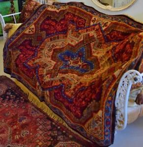 Gorgeous Antique French Sumptuous Plush Tablecloth / Throw / Rug, 19th Century