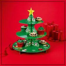Avon 3 Tier Christmas Tree Cupcake Stand - Cardboard