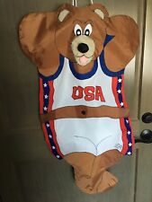 """New listing U.S.A. Bear Windsock. 35"""" X22"""". Not Including String For Hanging"""""""