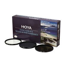 HOYA 62mm Digital Filter Kit Set: HMC UV, CPL/Circular Polarizer, NDx8 , & Pouch