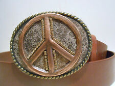 Reduced! Gorgeous Hand Made Buckles with Top Grain Leather Belt Any Size 28-48