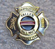 Fallen But Not Forgotten Firefighter Thin Red Line Memorial Badge Lapel Pin