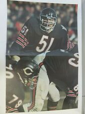 Dick Butkus Vintage Sports Illustrated Poster 1970 Chicago Bears NFL!