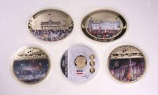 MGM * 5 Giganten Medaillen Deutsche Geschichte Proof (Wiedervereinigung 3Kaiser)