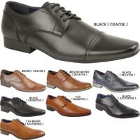 New Mens Formal Lace Up Office Wedding Smart Leather Italian Casual Shoes Sizes