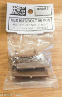 Tichy Train Group HO Scale #8081 Hex Nut/BOlt 96 PCS