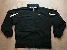 Vtg Reebok Windbreaker Track Jacket Mens Small Black All Purpose Sports