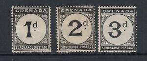 GRENADA SGD8/10 1906 POSTAGE DUE SET MTD MINT