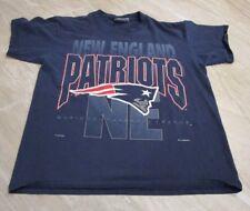 VTG 1992 Lee Sport NFL New England Patriots Blue T-Shirt Men's size XL
