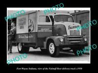 OLD 8x6 HISTORIC PHOTO OF FORT WAYNE INDIANA THE FALSTAFF BEER TRUCK c1950