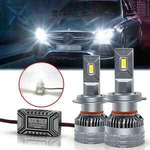 For Mercedes Benz SL S SLK E C CL Class H7 LED Headlight Bulb High Low Beam 130W
