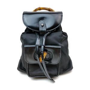 Gucci BackPack Bag  Black Enamel 1537937