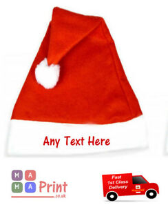 PERSONALISED KIDS SANTA CHRISTMAS  Child HAT - Xmas PARTY / FANCY DRESS