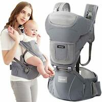 Upchase Baby Carrier, Ergonomic Hip Seat, Adjustable Multifunction, Front and