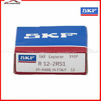 """1 PCS SKF R12 2RS Rubber Seals Ball Bearing Made in Italy 3/4""""x 1-5/8""""x 7/16"""""""