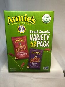 Annie's Homegrown Organic Vegan Fruit Snacks Variety Pack 42 Pouches Free Ship.