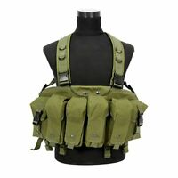 Camouflage Tactical Vest Airsoft Ammo Chest Rig Magazine Carrier Combat Military