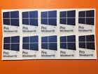 10 pcs Windows 10 Pro violet fade Blue color GLITTER SPARKLE sticker 16mm x 23mm