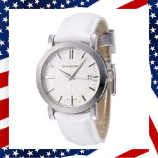 USA SELLER** NEW Swiss Made Authentic Unisex Burberry White Leather Watch BU1380