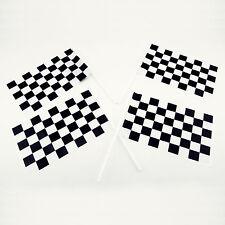 plástico a Cuadros Mini Carreras Banderas 72 piezas paquete NASCAR TEMÁTICA