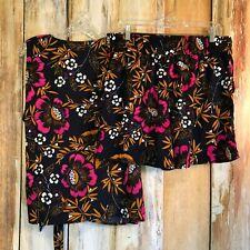 Target A New Day 2 Piece Floral Shorts & Sleeveless Wrap Top Set sz XXL EUC!