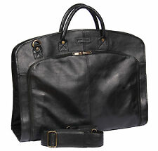Soft Leather Travel Suit Carriers & Garment Bags