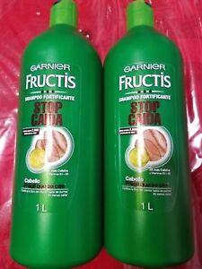 2 pack of Garnier Fructis Shampoo Fortificante Stop Caida Fall Stop 33.8  oz ea