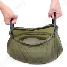 Foldable Camping 10L Wash Bowl - Olive Drab - Outdoor Hiking Expedition NEW