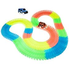 56pcs Magic Track Twister Car Racing Tracks Glow in the Dark Block Set Luminous