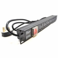Power Distribution Unit PDU 6 Way Horizontal 19 Rack Mounted 1U [008539]