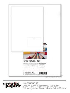 Briefbogen mit Namensschild div. Formate DIN A4 120 g/m² weiß 50er-250er Pack