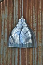 Industrial polished metal ceiling light shade hanging pendant lamp DASR4