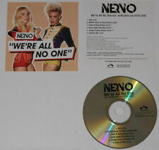 Nervo  We're All No One remixes  U.S. promo cd - Hard-to-find!