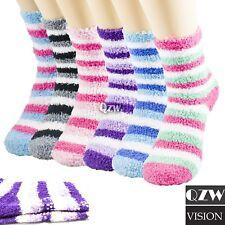 Lot 1-12 Womens Winter Warm Soft Non-Skid Cozy Fuzzy Slipper Crew Socks 9-11