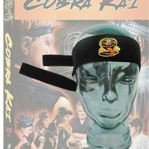 Martial Arts Headband COBRA KAI Karate Kid Head Band Kung Fu Fancy Dress Costume
