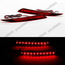 2X LED Rear Bumper Reflector Brake Drive Lights Red For Ford Fusion Mondeo 13-18