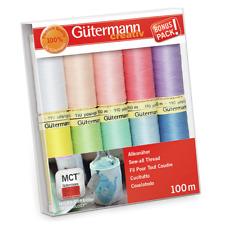 Gutermann 'Pastel Shades' 100m Sew-All Thread Set Pack of 10 [7340062]