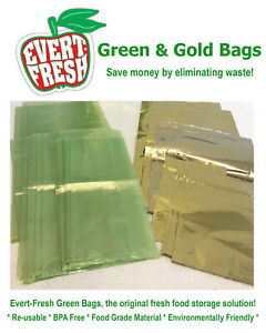 Evert-Fresh Green and Gold Bags