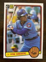 1983 Donruss RYNE SANDBERG Rookie #277, Cubs RC HOF   Qty. Available