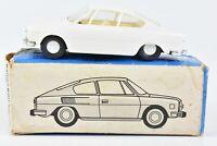 KDN Mini Auto Skoda 110 R Coupe White 1:43 Scale with Box Czechoslovakia