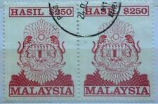 Malaysia Used Revenue Stamps - 2 pcs $250 Stamp (Old Design Big Size)