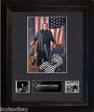 Film Cell Genuine 35mm Framed & Matted Johnny Cash S1 USFC1955 Limited Edition