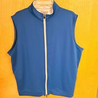 Peter Millar Men's Blue Wicking Golf Full Zip Vest Size XL Performance Vest