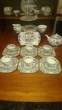 Jo Bro indian Tree After,n Tea Set 3Tier  Sandwich Stand Large square plates PC