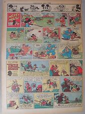 Mickey Mouse Sunday Page by Walt Disney from 11/11/1945 Tabloid Page Size