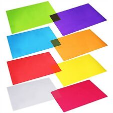 104 Pcs Cellophane Wraps Cellophane Sheets Cello Sheets 11.8 '' x 8.5'' 8 Colors