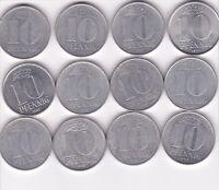 12 x 10 Pfennig DDR 1971 bis 1989 A Berlin