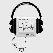 Character Funny Headset Switch light Sticker Decal Music Is My Life Wall Sticker